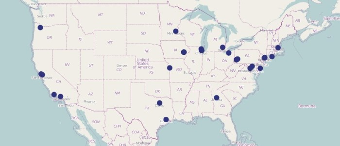 National New Play Map from HowlRound  